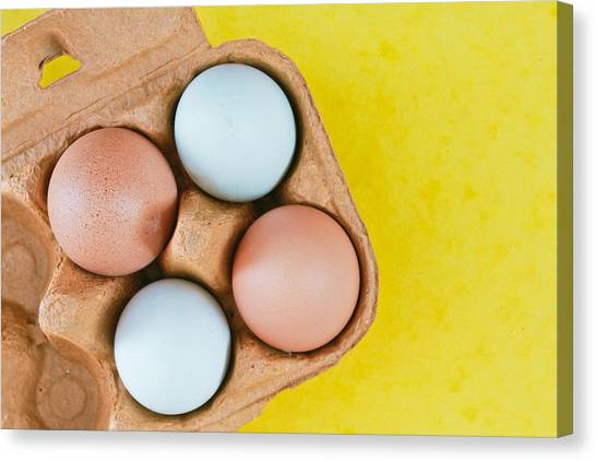 Selection Canvas Print - Eggs by Tom Gowanlock