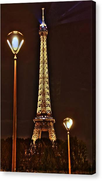 Eiffel Tower Canvas Print by Steve Ellenburg