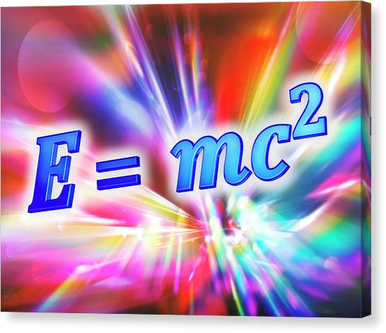 Einstein's Mass-energy Equation Canvas Print by Alfred Pasieka