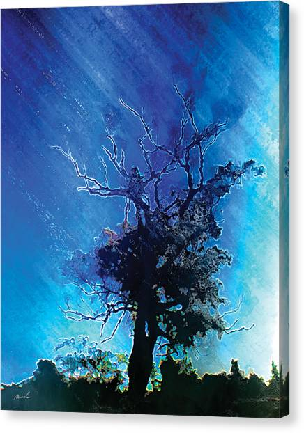 Electric Tree Canvas Print by The Art of Marsha Charlebois
