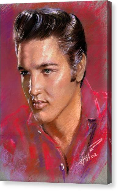 Elvis Canvas Print - Elvis Presley by Viola El
