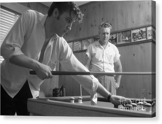 Elvis Canvas Print - Elvis Presley With His Father Vernon 1956 by The Harrington Collection