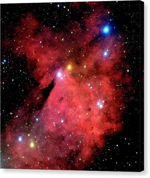 Emission Nebulae Canvas Print by Canada-france-hawaii Telescope/jean- Charles Cuillandre/science Photo Library