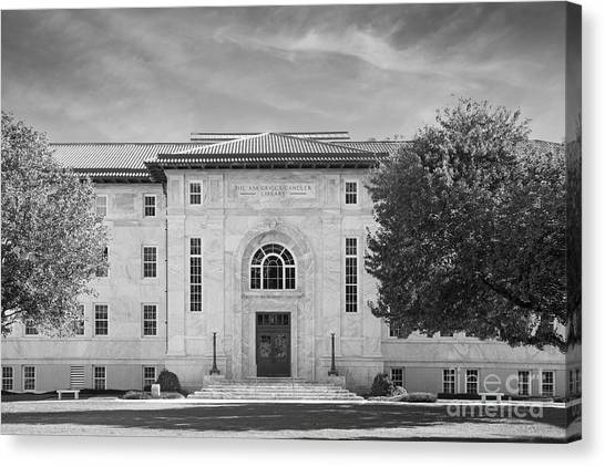 Emory University Canvas Print - Emory University Candler Library by University Icons