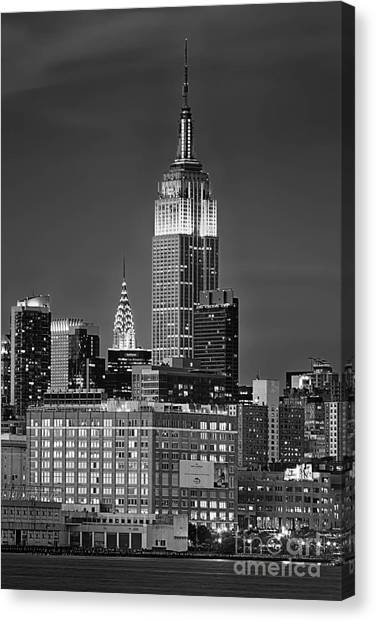 Empire And Chrysler Buildings Canvas Print