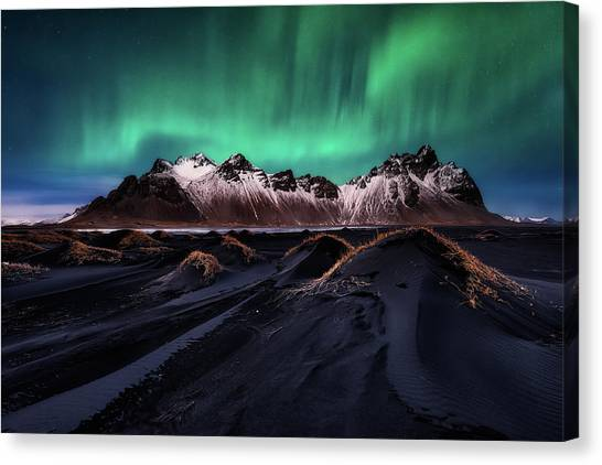 Aurora Borealis Canvas Print - Enchanted Stokksnes by Javier De La