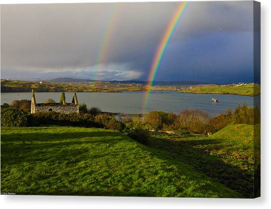 Rainbows Canvas Print - End Of The Rainbows by Corey Sheehan
