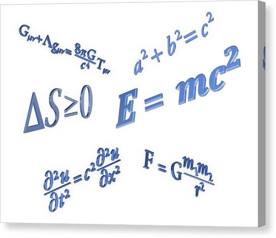 Equations Canvas Print by Alfred Pasieka