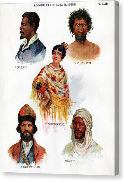 Ethiopian Woman Canvas Print - Ethnic Groups by Cci Archives