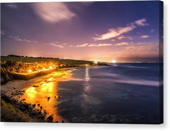 Evening At Hookipa Canvas Print by Hawaii  Fine Art Photography