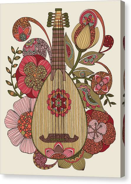 Mandolins Canvas Print - Ever Mandolin by Valentina