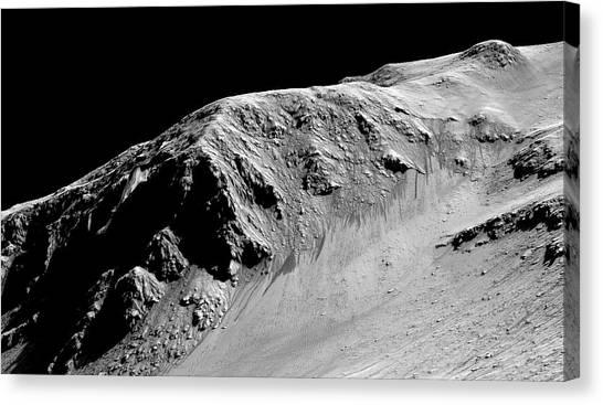 Evidence Of Water On Mars Canvas Print by Nasa/jpl-caltech/univ. Of Arizona