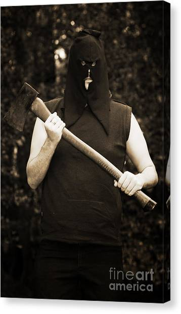 Axes Canvas Print - Executioner With Axe by Jorgo Photography - Wall Art Gallery