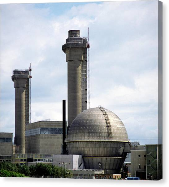 Nuclear Plants Canvas Print - External View Of Sellafield Nuclear Power Station by Dr Jeremy Burgess/science Photo Library