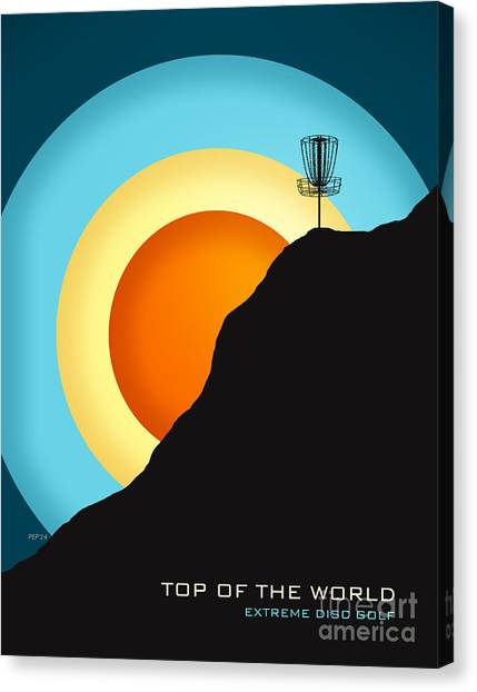 Disc Golf Canvas Print - Extreme Disc Golf by Phil Perkins