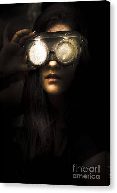 Machinist Canvas Print - Face Of Industrial Grunge by Jorgo Photography - Wall Art Gallery