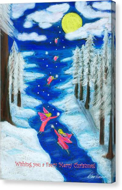 Faery Merry Christmas Canvas Print