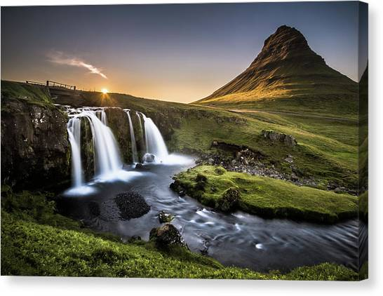 Waterfalls Canvas Print - Fairy-tale Country by Andreas Wonisch