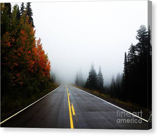 Canvas Print featuring the photograph Fall Drive by Kate Avery