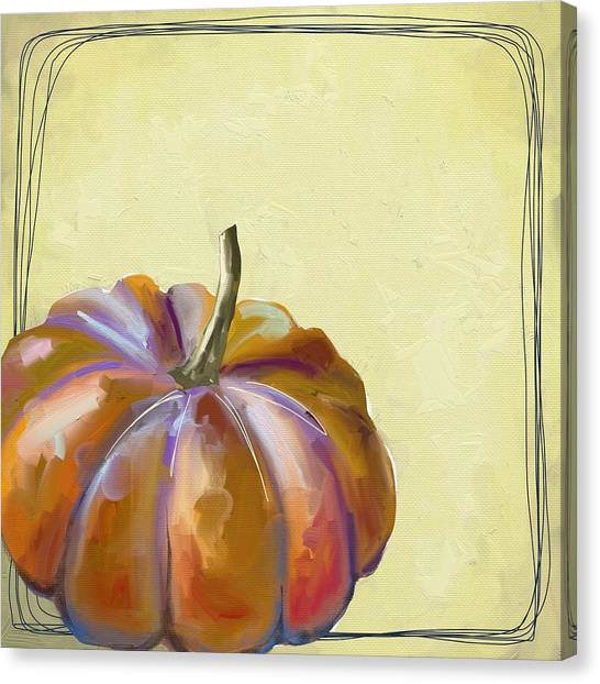 Pumpkins Canvas Print - Fall Pumpkin by Cathy Walters