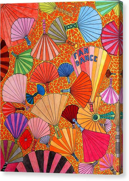 Fan Dance Canvas Print by Gregory Carrico