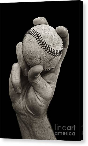 Baseball Canvas Print - Fastball by Diane Diederich