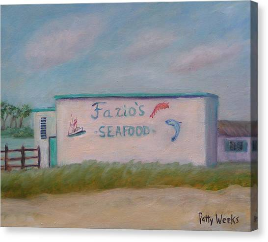 Fazios Seafood In St Augustine Florida Canvas Print