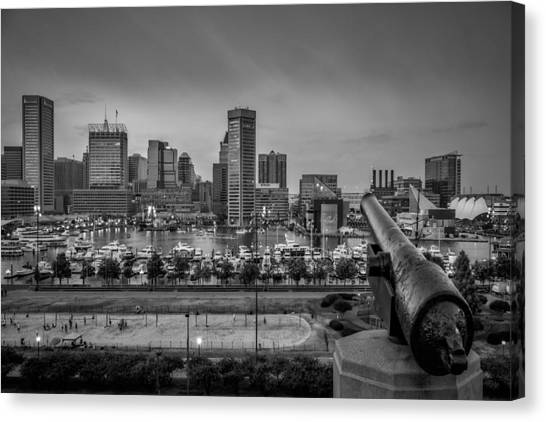 Federal Hill In Baltimore Maryland Canvas Print