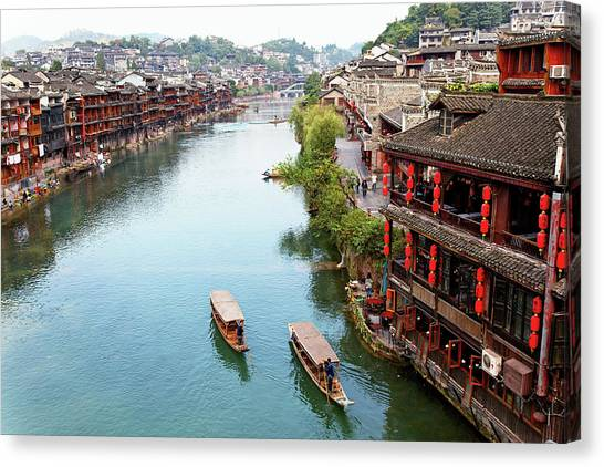 China Town Canvas Print - Fenghuang Ancient Town by Shirlyn Loo