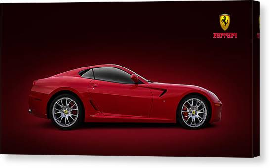 Formula Car Canvas Print - Ferrari 599 Gtb by Douglas Pittman
