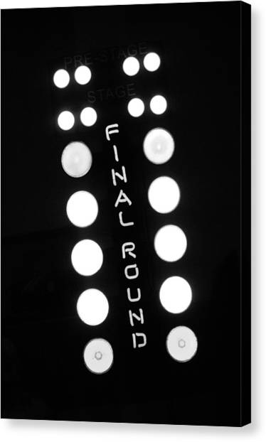 Finish Line Canvas Print - Final Round Neon Sign by Jill Reger