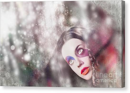 Karma Canvas Print - Fine Art Woman In Light Of Spiritual Awakening by Jorgo Photography - Wall Art Gallery