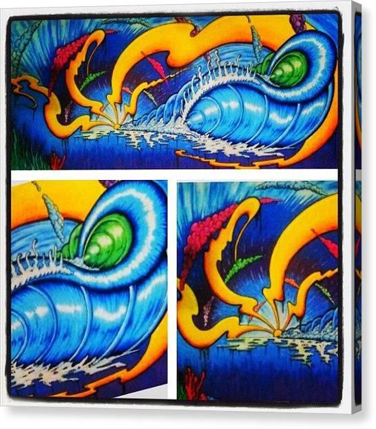 Surfing Canvas Print - Finished!! #surfart #surf #surfboardart by Gavin Mccrea