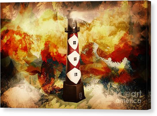 Beam Canvas Print - Fire On Lighthouse Hill by Jorgo Photography - Wall Art Gallery