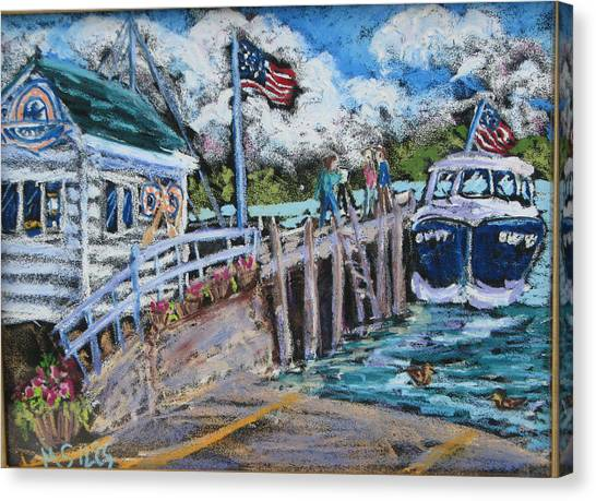 Fish Creek Boat Launch Canvas Print by Madonna Siles