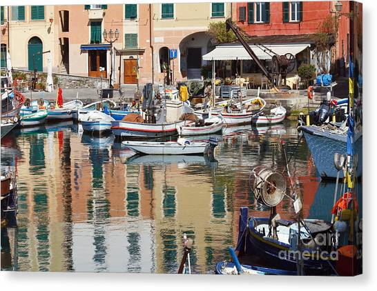 fishing boats in Camogli  Canvas Print