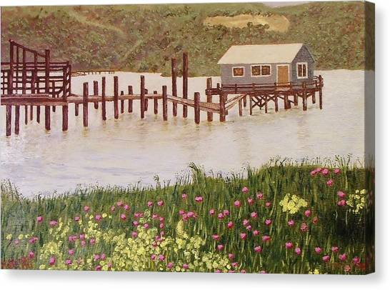 Fishing Shack Canvas Print