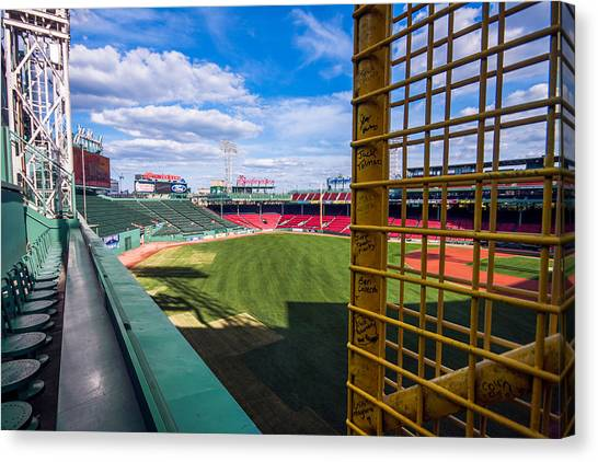 Fisk's Pole And The Green Monster Canvas Print