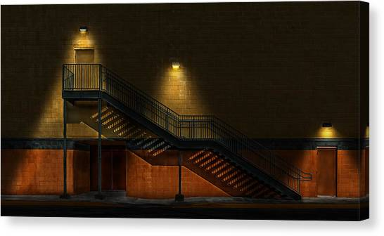 Shadowy Staircase Canvas Print