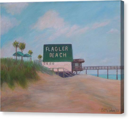 Flagler Beach Florida Canvas Print