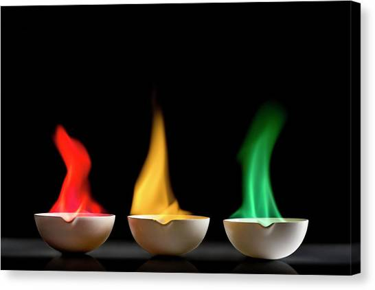 Flame Test Canvas Print - Flame Tests by Science Photo Library