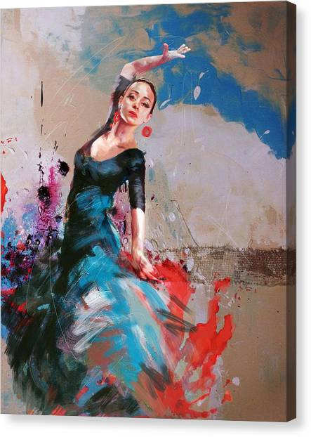 Salsa Canvas Print - Flamenco 41 by Maryam Mughal