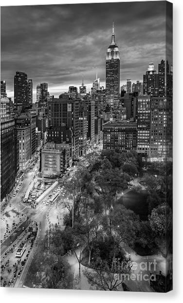 Flatiron District Birds Eye View Canvas Print