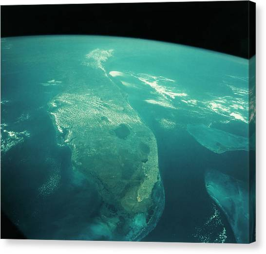 Florida From Space Canvas Print by Nasa/science Photo Library