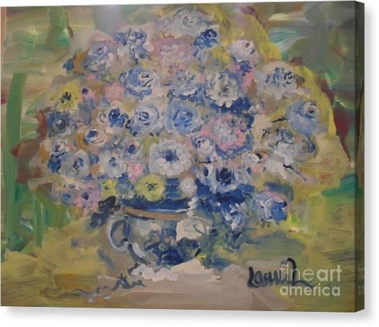 Flow Bleu Canvas Print