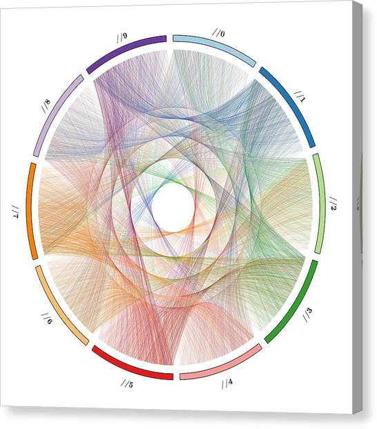 Flow Of Life Flow Of Pi Canvas Print by Cristian Vasile