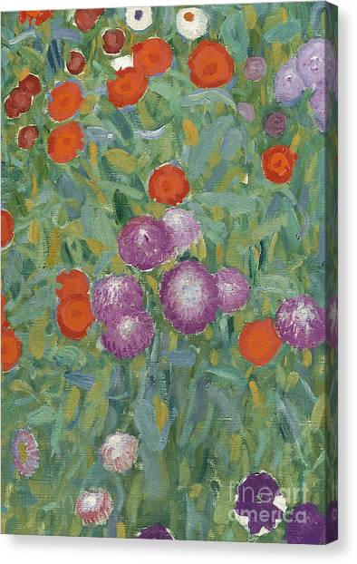 Elegant Canvas Print - Flower Garden by Gustav Klimt