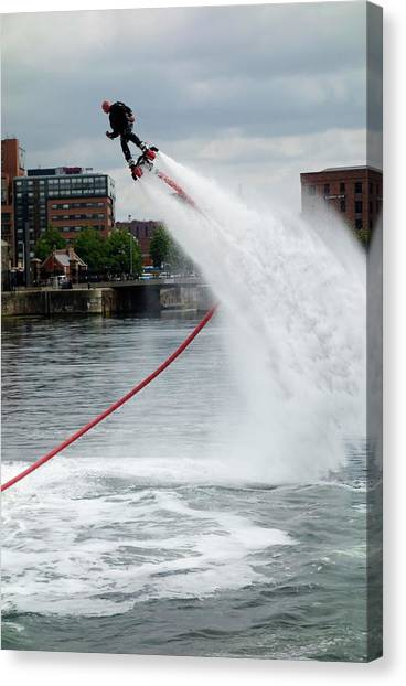 Jet Skis Canvas Print - Flyboard by Cordelia Molloy