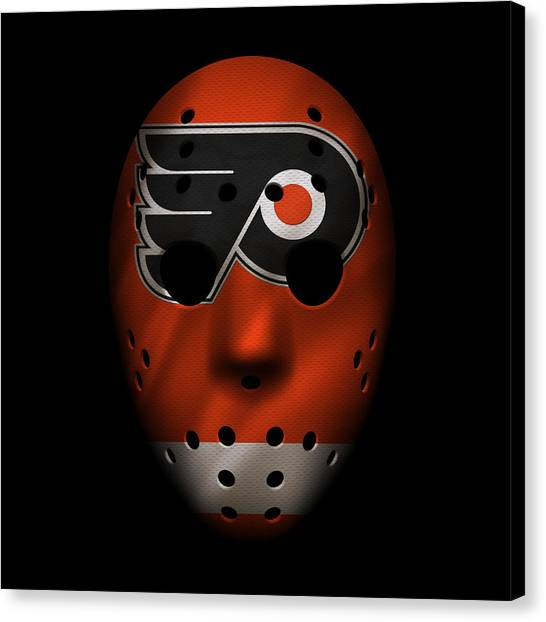 Philadelphia Flyers Canvas Print - Flyers Jersey Mask by Joe Hamilton