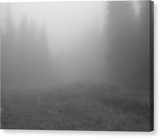 Fog In Tileston Meadow Canvas Print